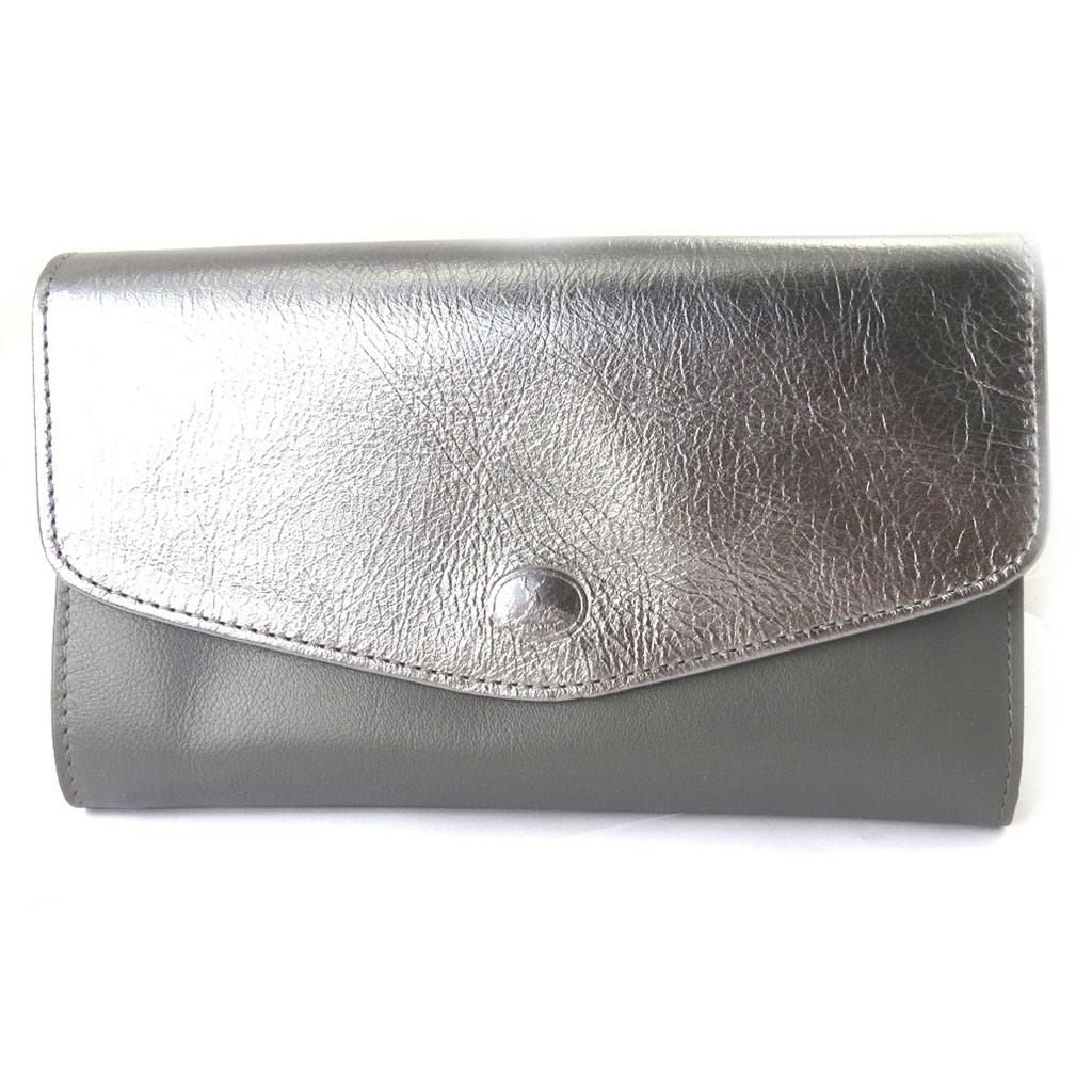 Compagnon Cuir \'Frandi\' gris bicolore - [M7503]