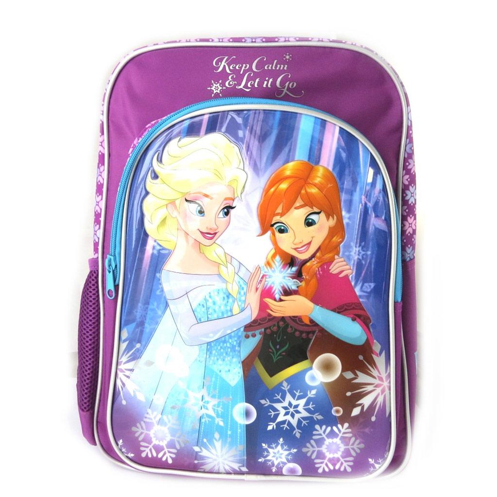 Sac à dos créateur \'Frozen - Reine des Neiges\' bleu violet - 42x31x12 cm - [N6048]