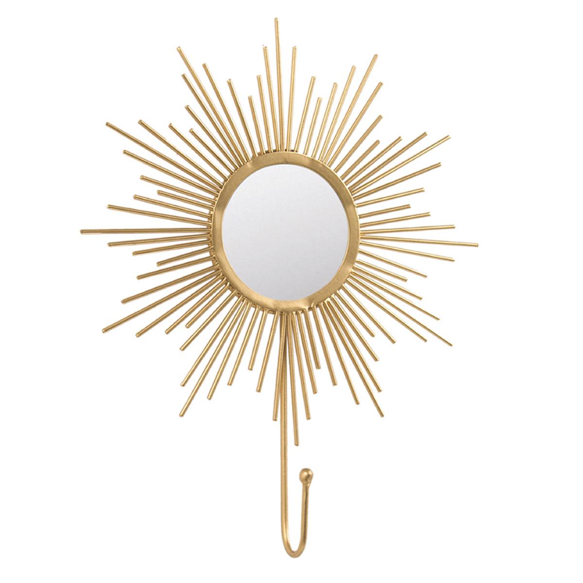 Patère filaire métal \'Cléopatra\' doré (soleil) - 20x15 cm - [R2380]