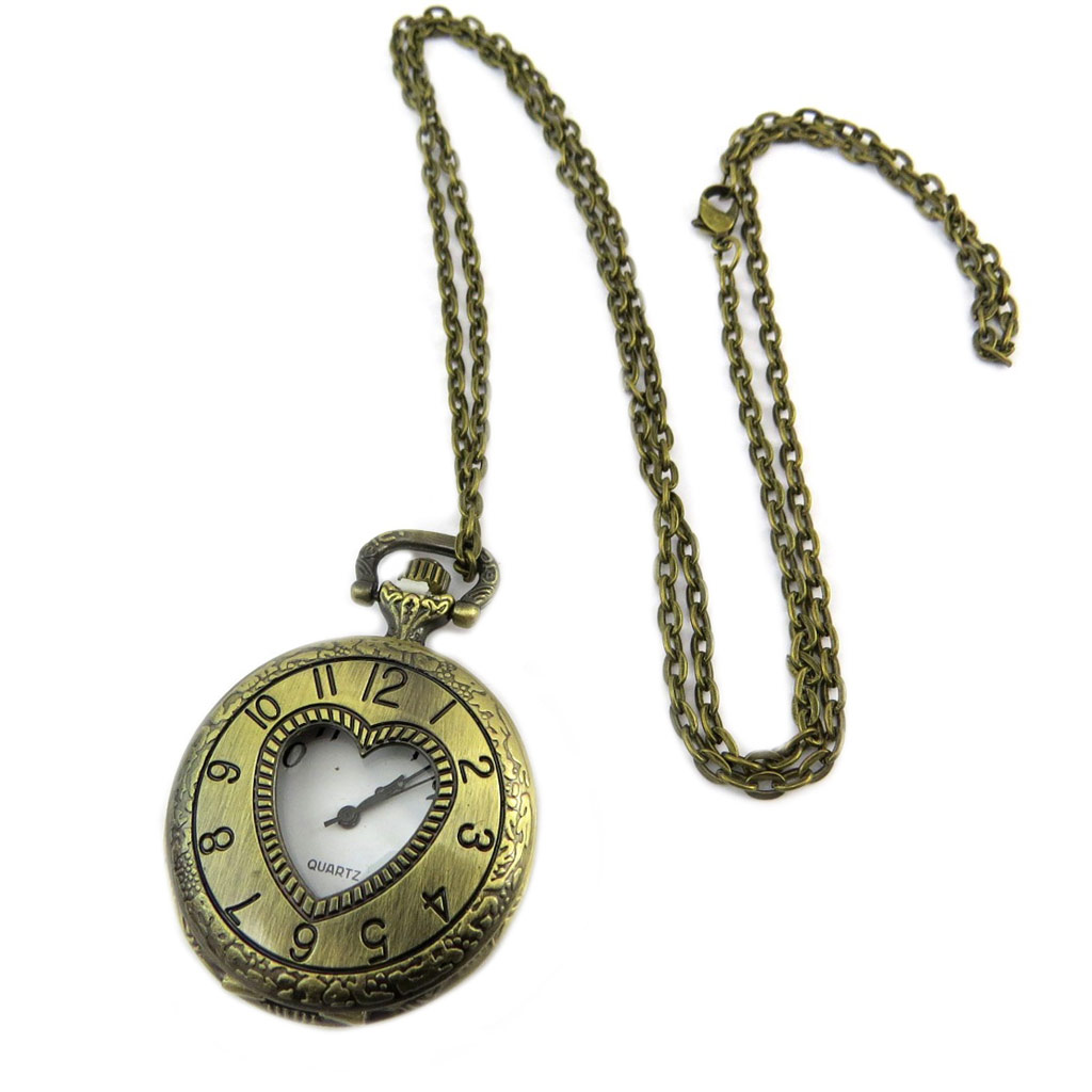 Montre à Gousset \'Dickens\' doré vieilli - 80 cm, 38 mm - [P7278]