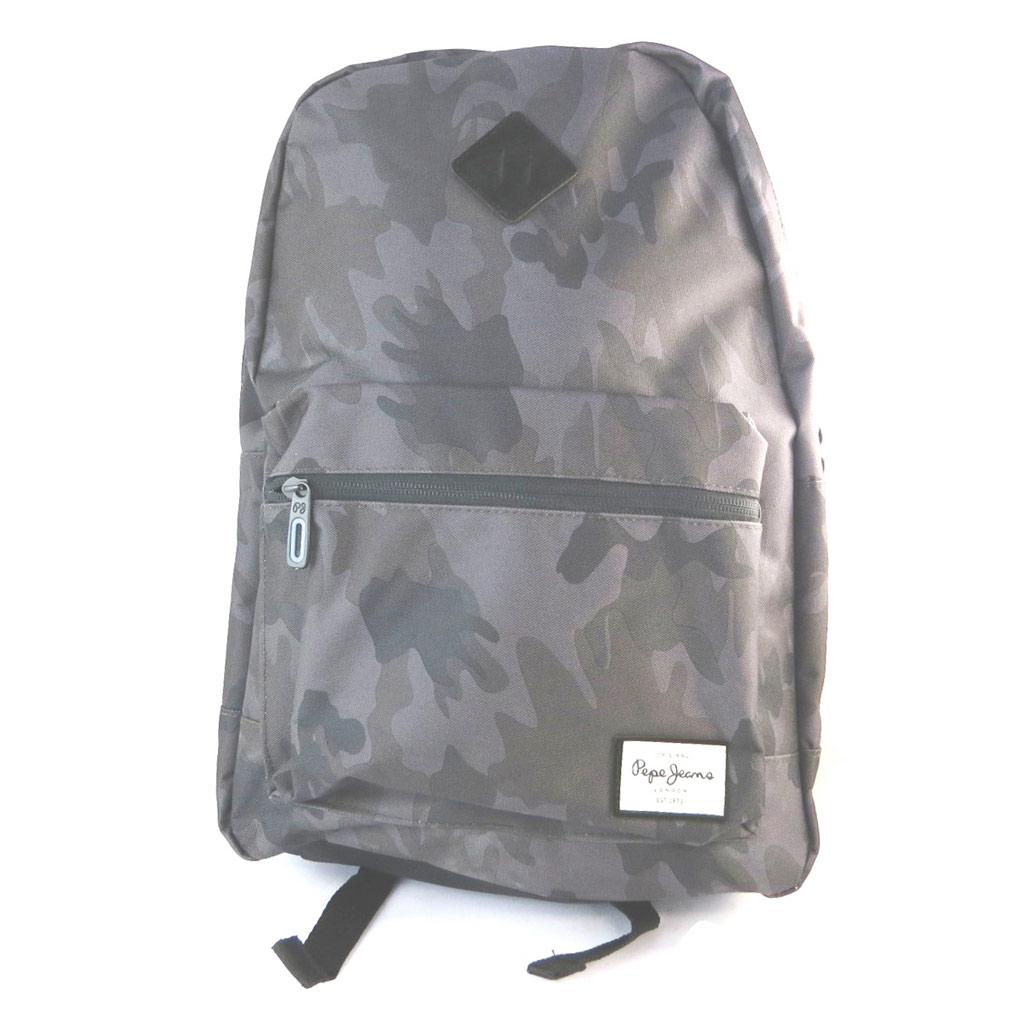 Sac à dos \'Pepe Jeans\' gris camouflage - 40x34x13 cm - [N6058]