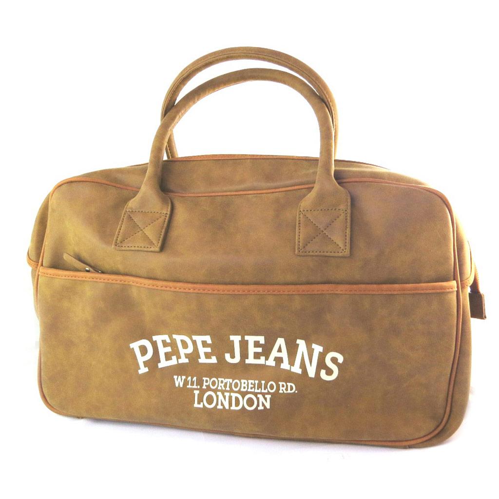 Sac de voyage \'Pepe Jeans\' camel vintage - 50x27x17 cm - [N6061]