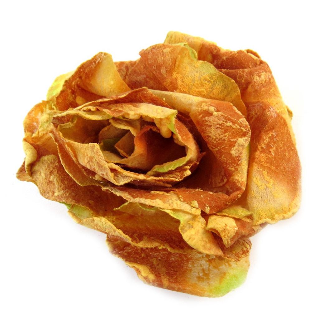 Broche Créateur \'Rose Féérique\' Orange Jaune  - [E2176]