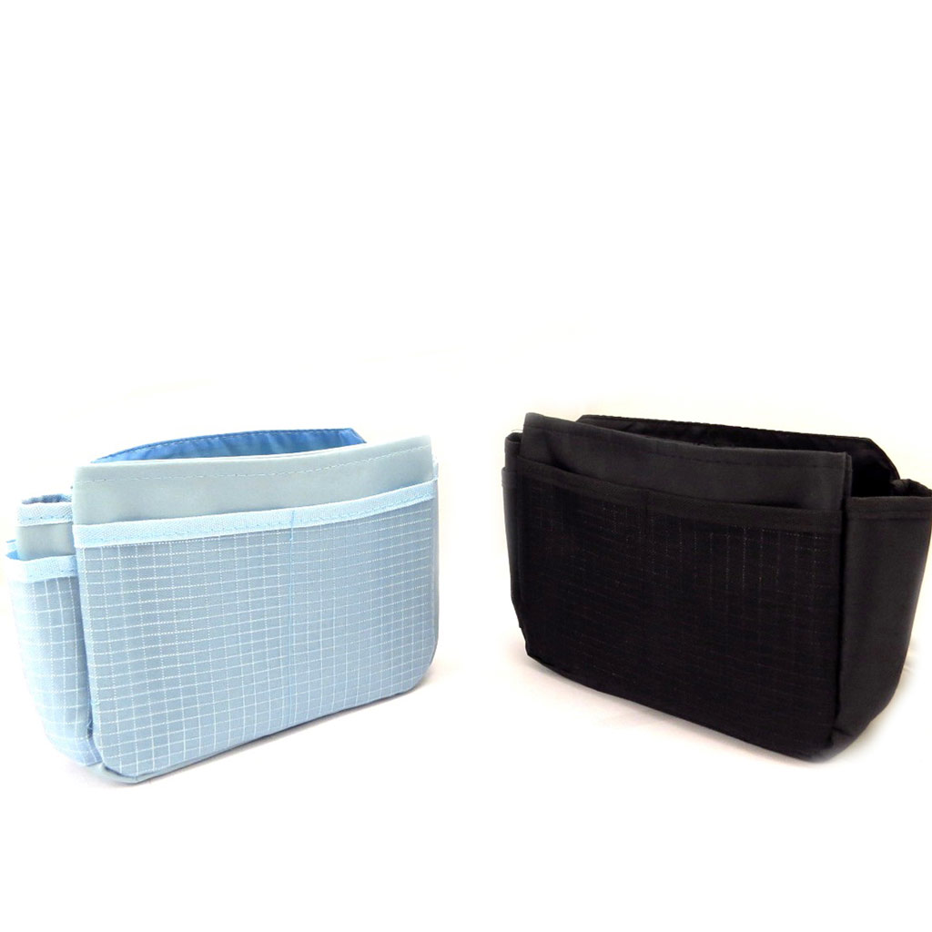 2 organisateurs de sacs \'Scarlett\' bleu noir - [K9060]
