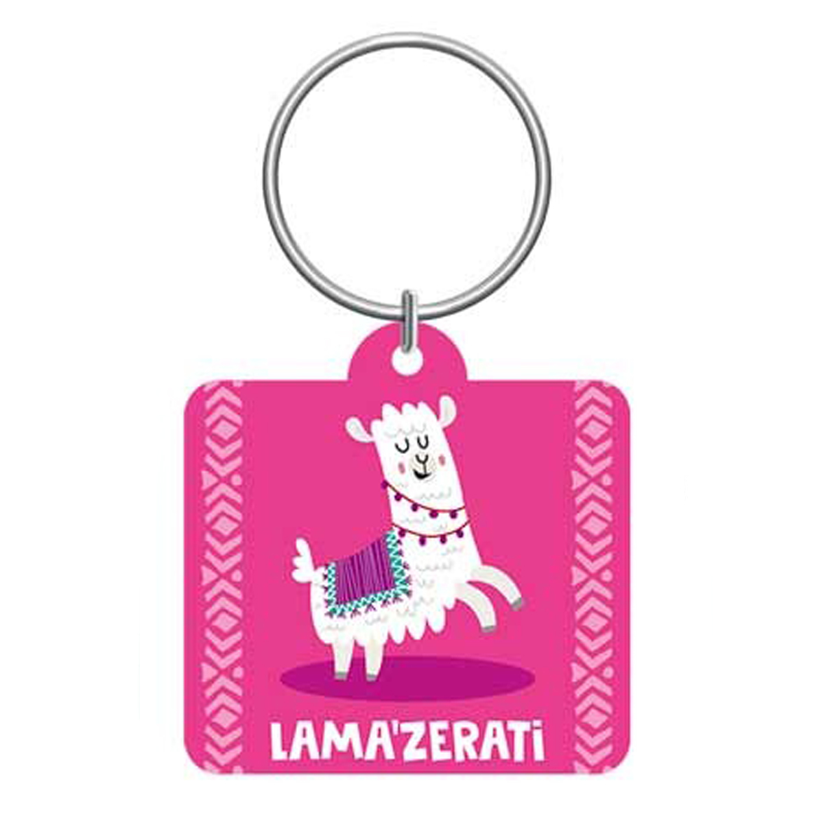 Porte-clés \'Lama Mania\' rose (Lama\'zerati) - 55x5 cm - [Q0882]