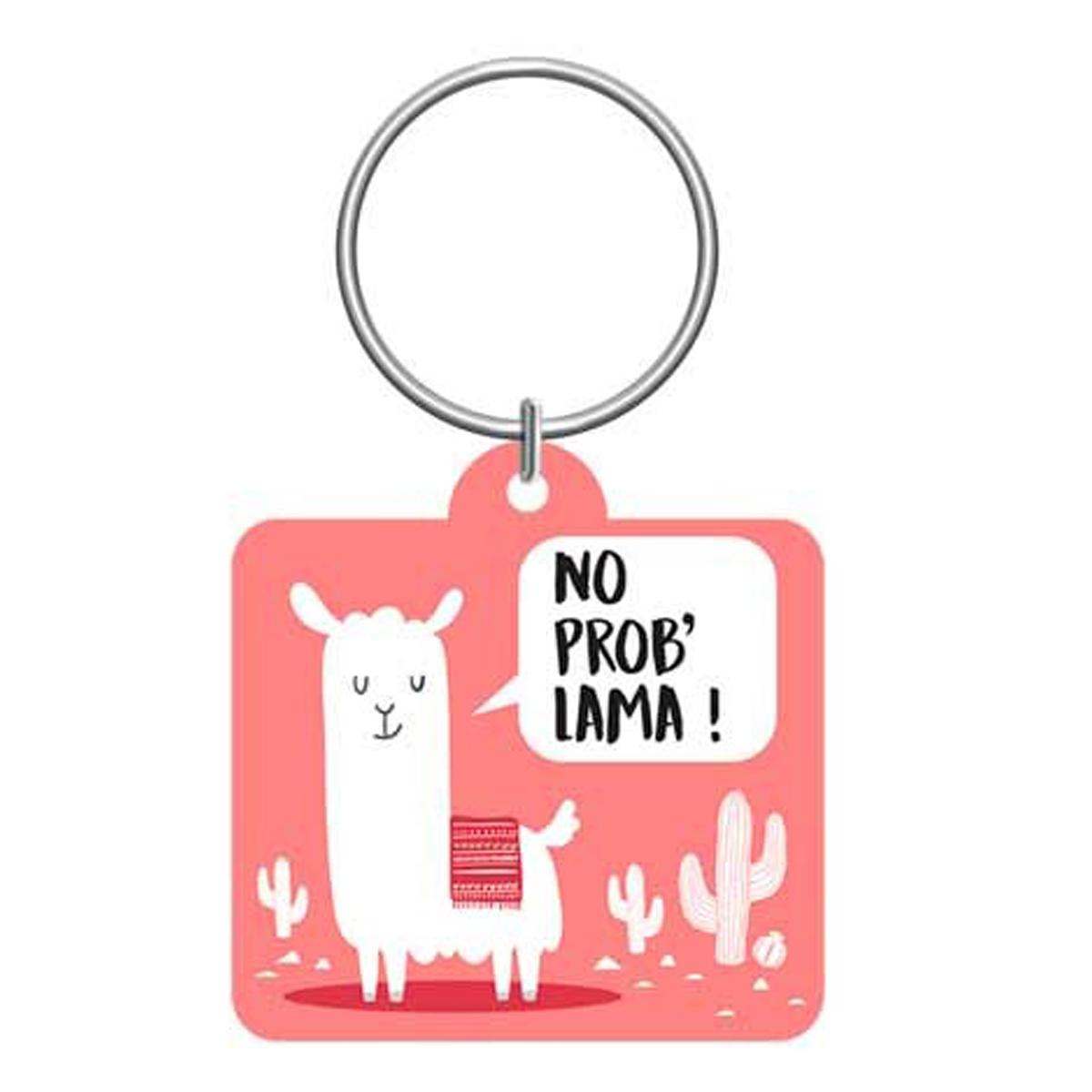 Porte-clés \'Lama Mania\' rose (No prob\' Lama !) - 55x5 cm - [Q0883]