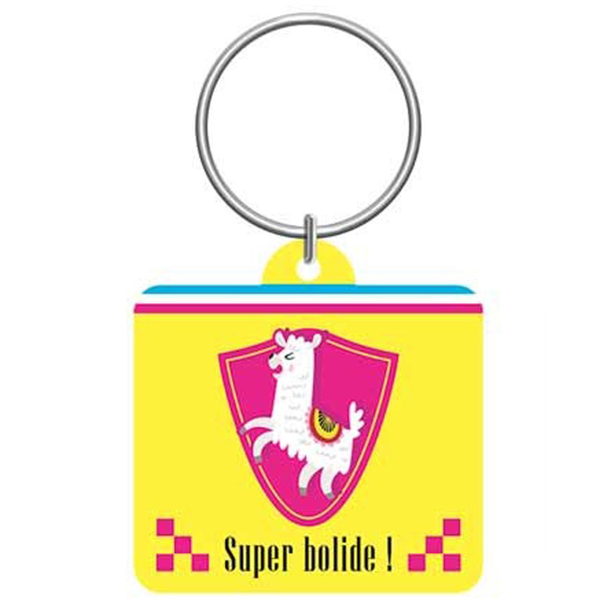 Porte-clés \'Lama Mania\' jaune (Super Bolide !) - 55x5 cm - [Q0884]