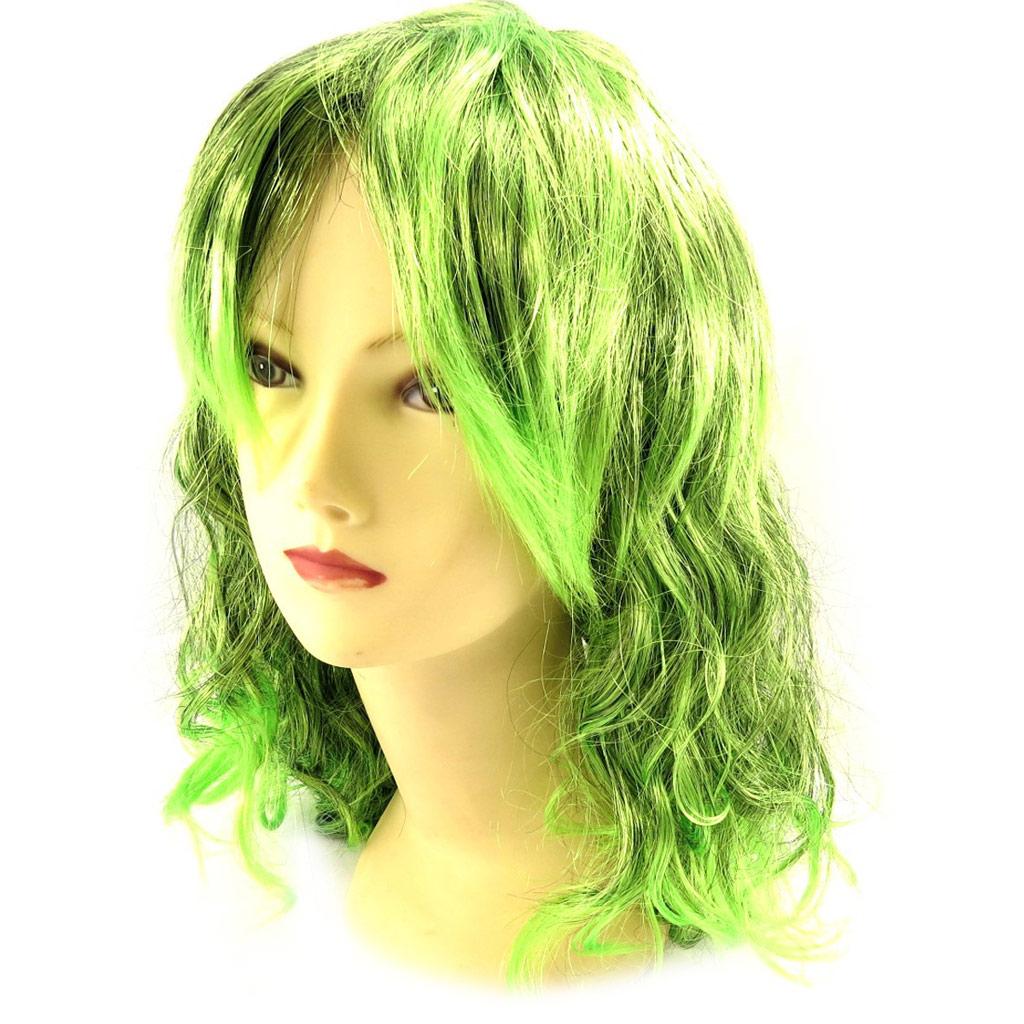 Perruque \'Pygmalion\' vert (50 cm) - [K9073]
