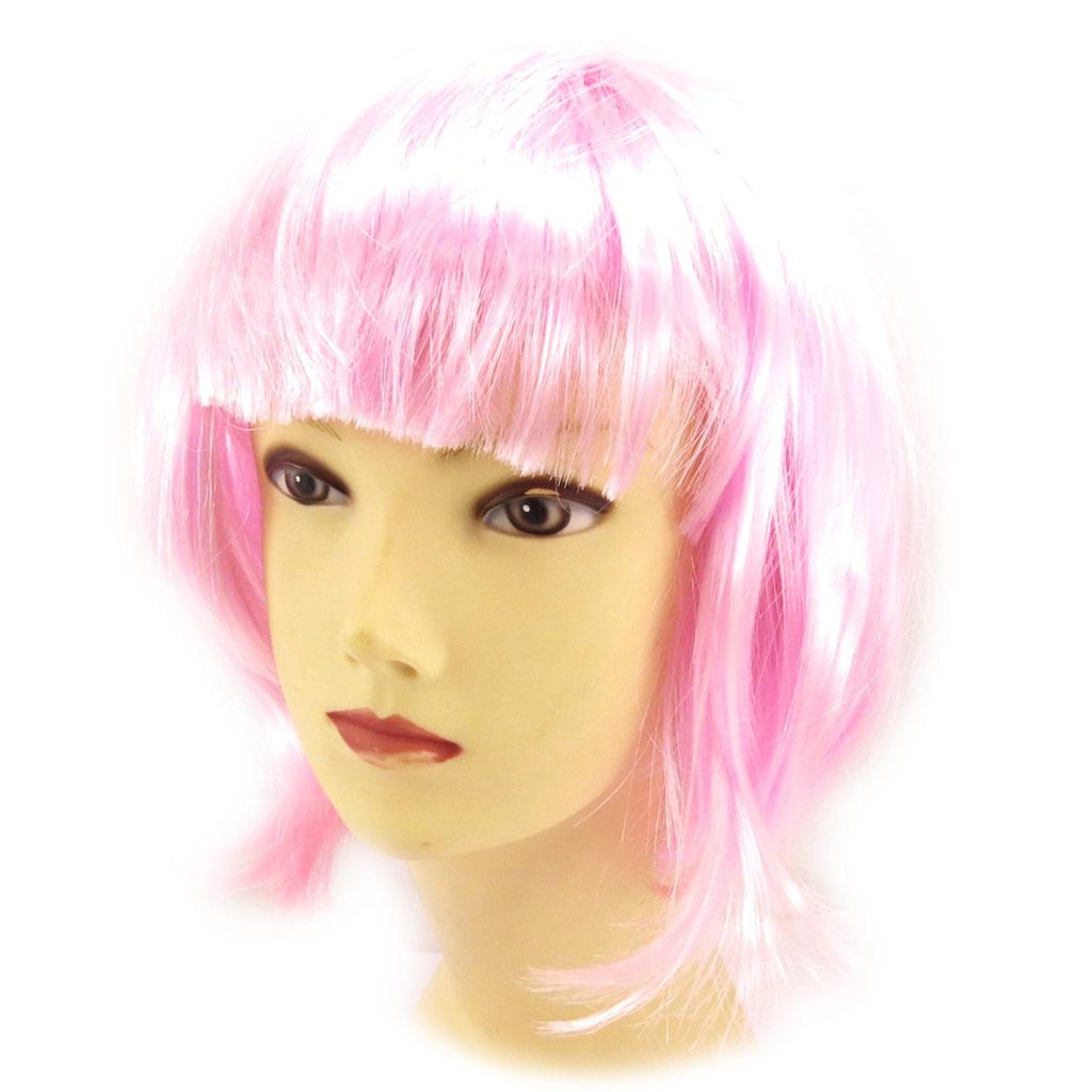 Perruque \'Pygmalion\' rose manga (30 cm) - [K9076]