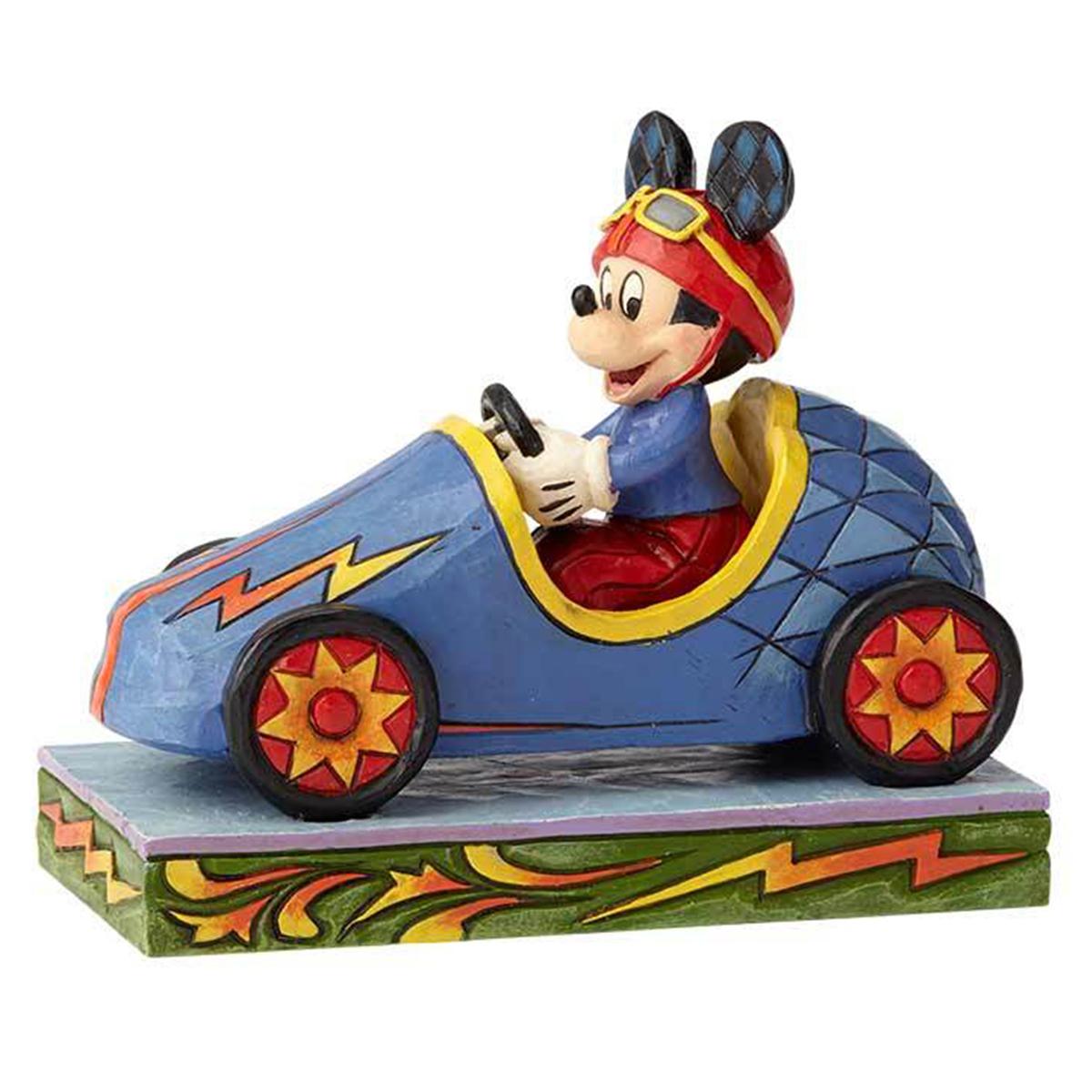 Figurine créateur \'Mickey\' pilote de course (Jim Shore) - 135x10x6 cm - [Q3140]