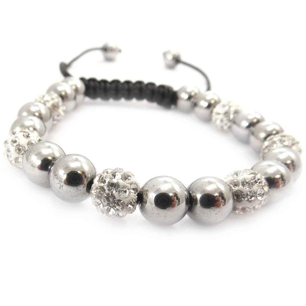 Bracelet ethnique \'Shambhala\' argenté - [J8708]