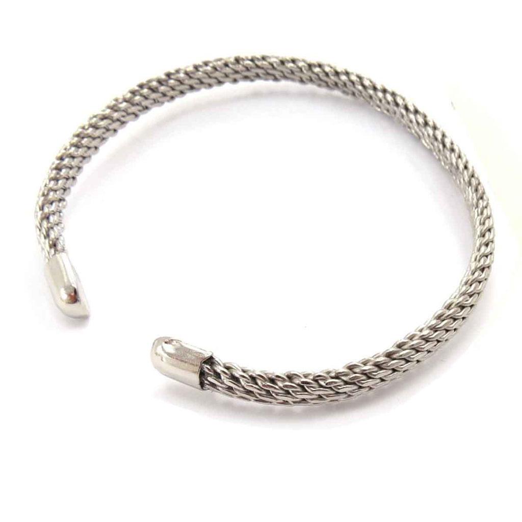 Bracelet bras \'Chorégraphie\' argenté  - [J8720]