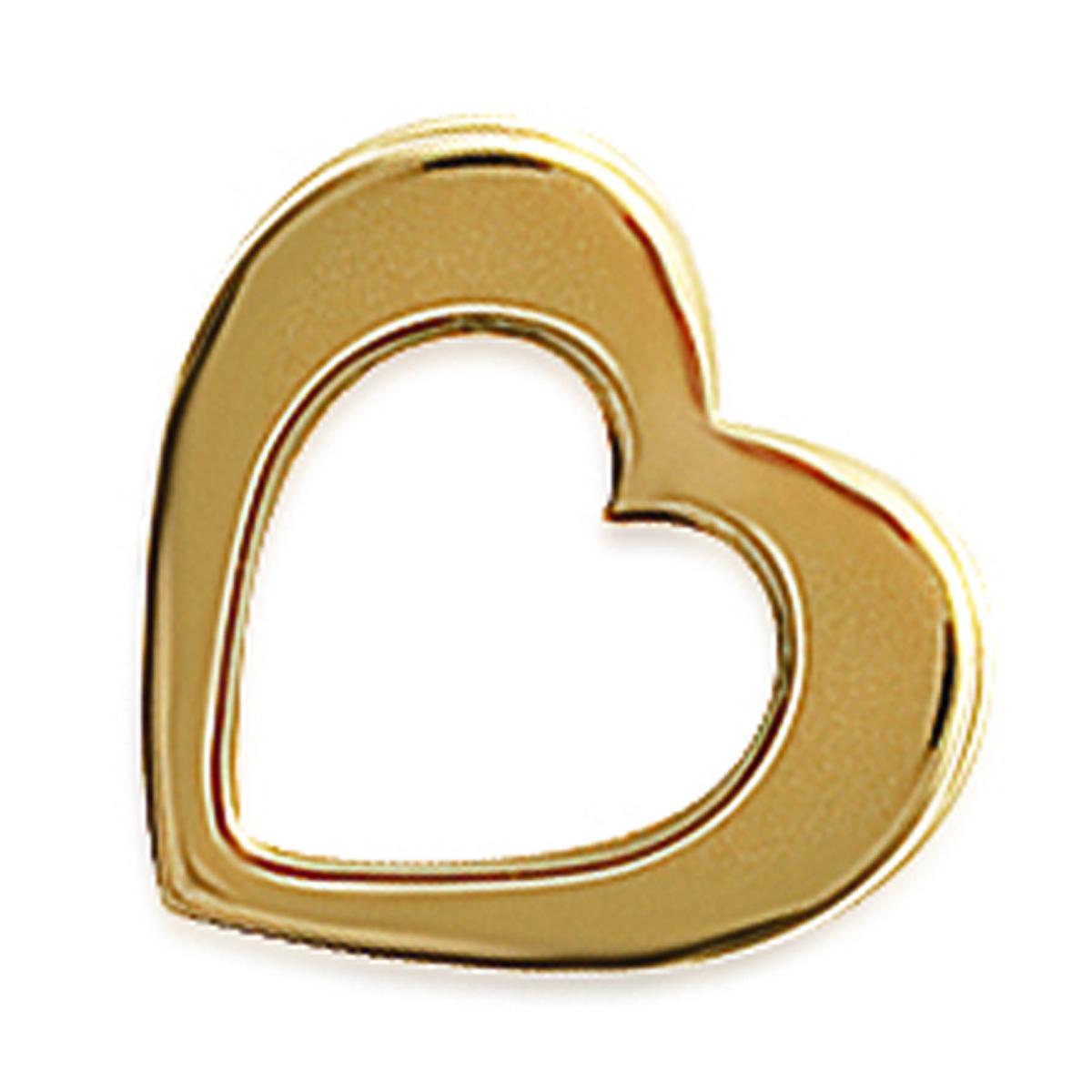Pendentif Plaqué Or \'Love\' doré - 14x16 mm - [G1207]