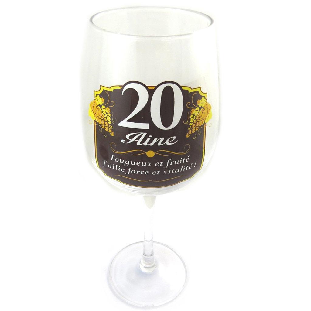 Verre à vin \'20 aine\'  - [N6146]