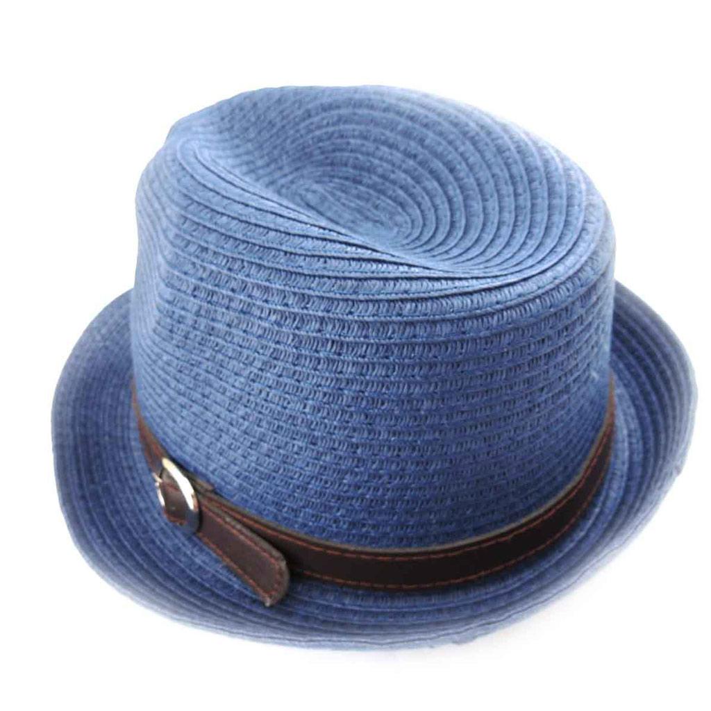 Borsalino rétro \'Giovanny\' bleu - [J8758]