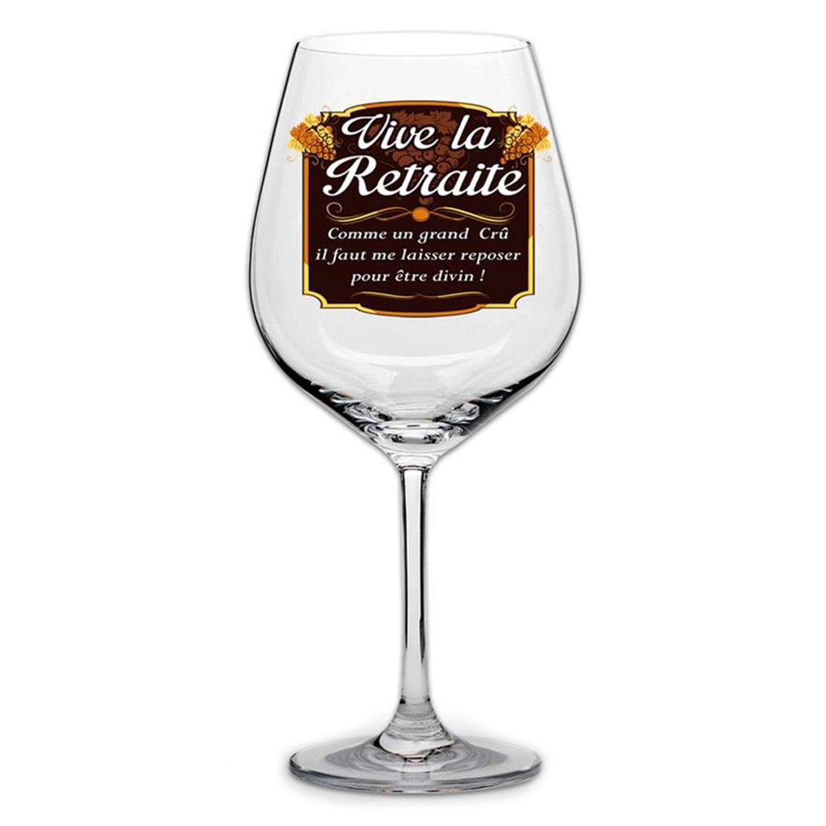 Verre à vin \'Vive la retraite\'  - [N6150]