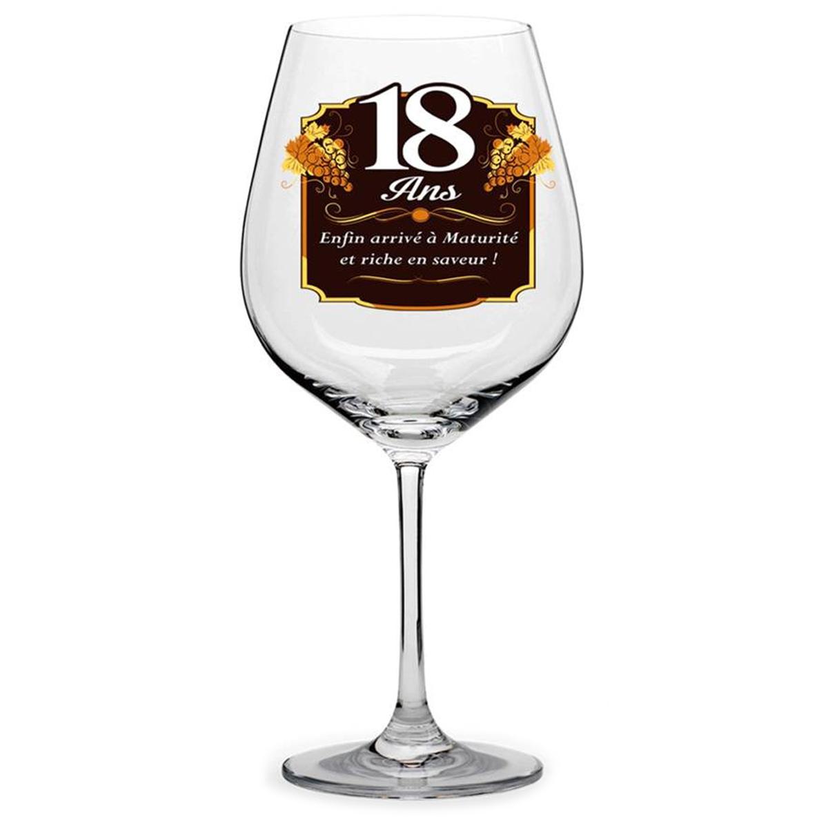 Verre à vin \'18 ans\'  - [N6160]