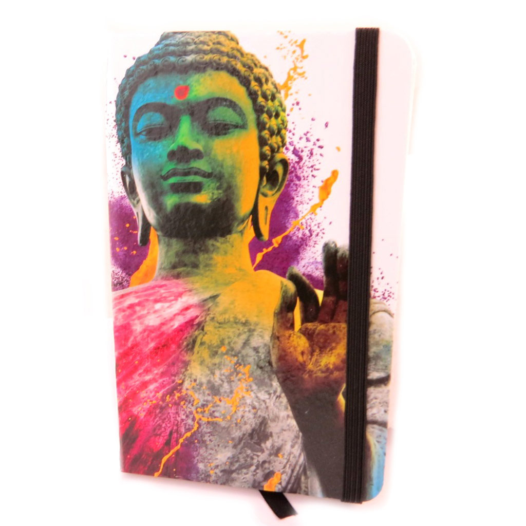 Carnet Intime \'Bouddha\' blanc multicolore - [N6168]