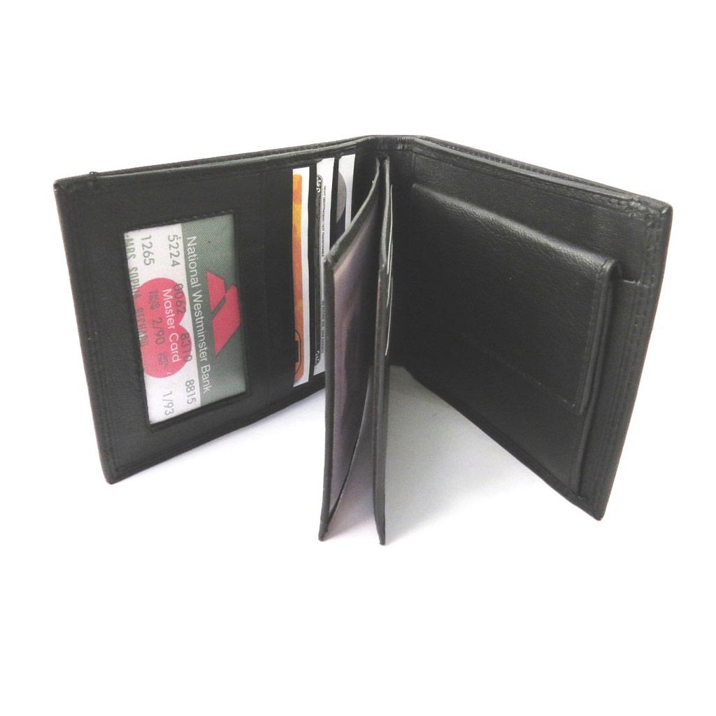 Portefeuille italien cuir  \'Les Trésors de Lily\' noir - 125x10x25 cm - [N5185]