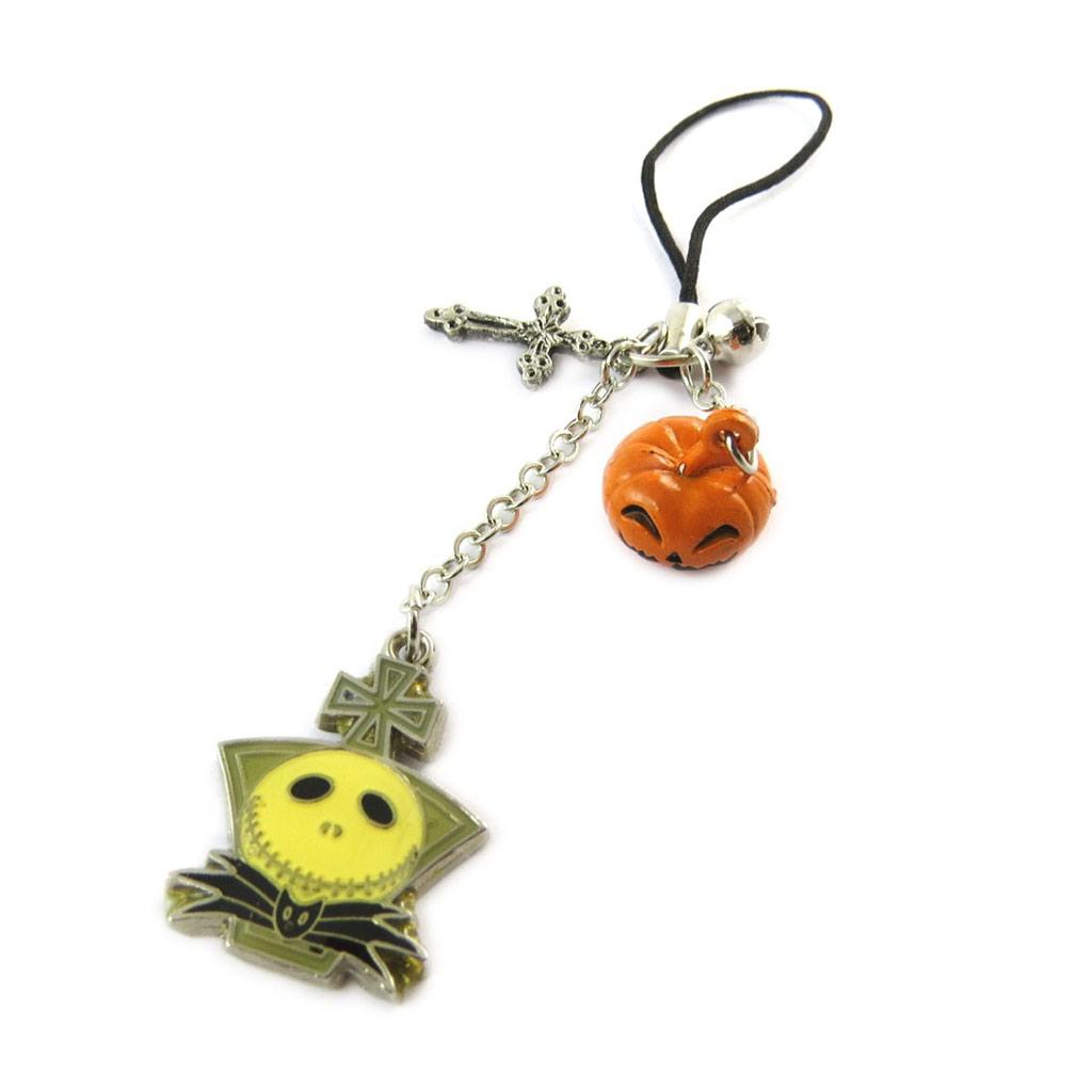 Doudou Portable \'Jack Halloween\' Argenté Orange  - [E2877]