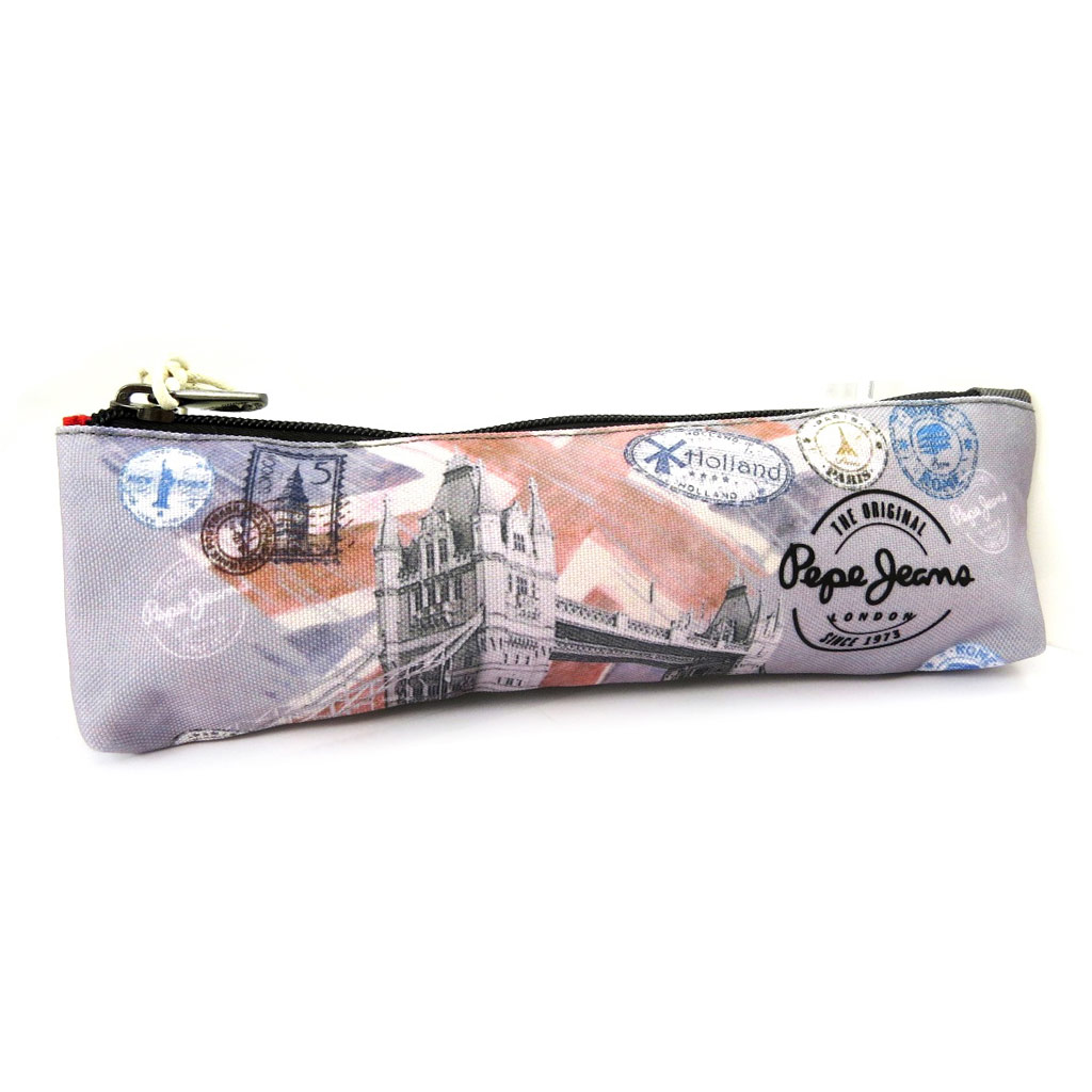 Trousse \'Pepe Jeans\' gris (Tower Bridge) - [L6850]