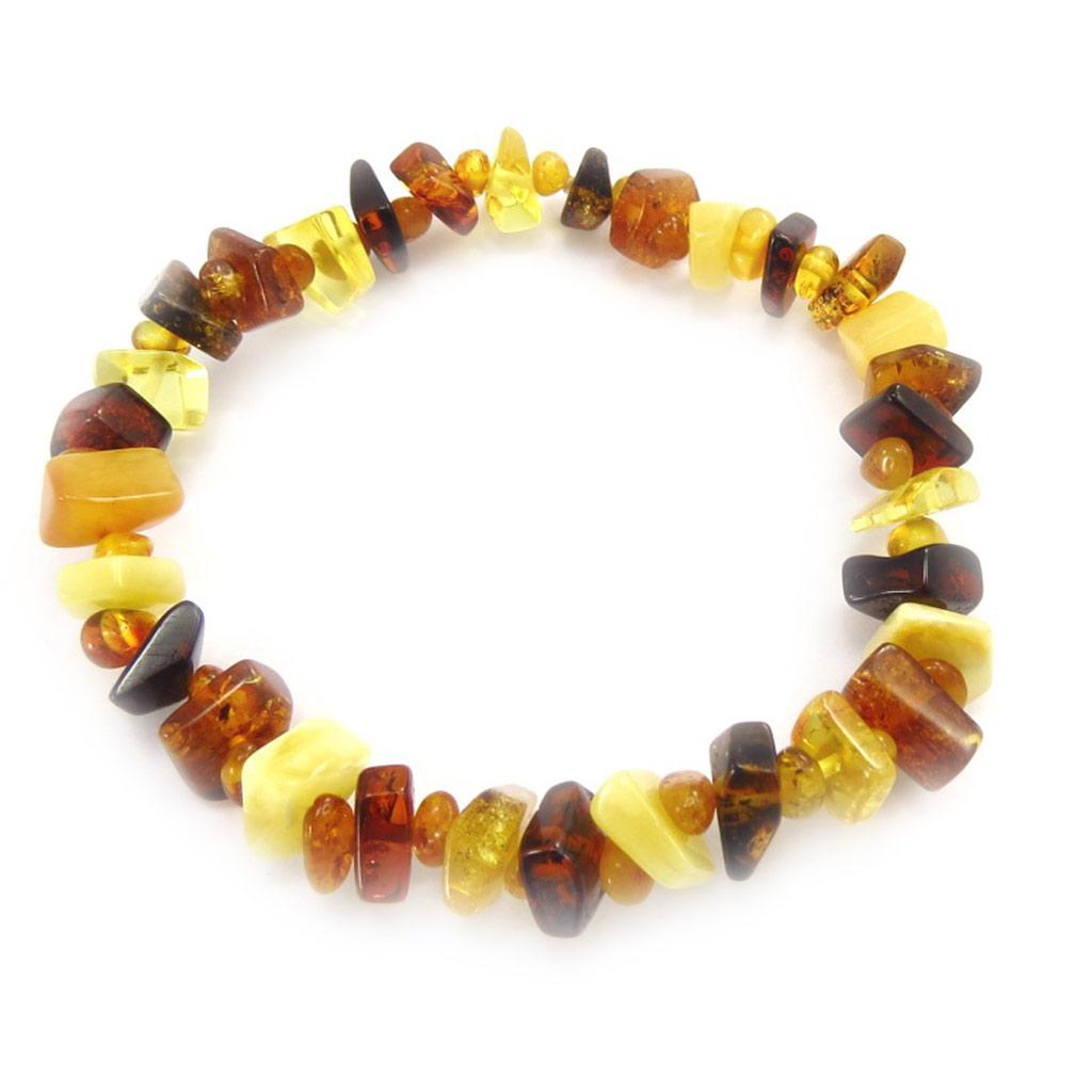 Bracelet \'Inspiration\' ambre (3 tons) - [K2613]