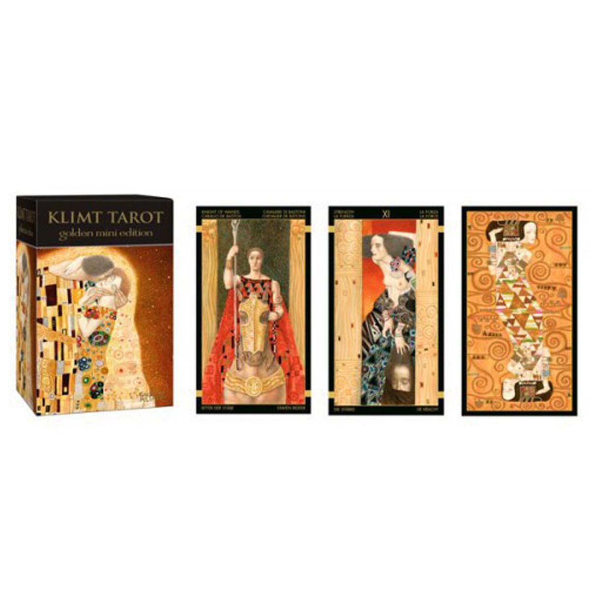 Mini tarot créateur \'Gustav Klimt\' - 85x55x45 mm - [Q7128]