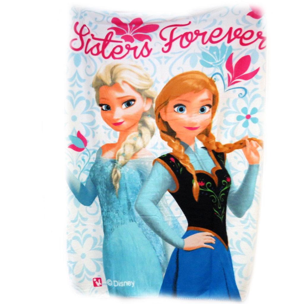 Plaid Polaire \'Frozen - Reine des Neiges\' bleu rose - [L6895]