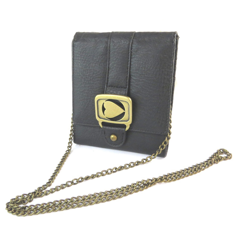 Portefeuille Pochette \'Morgan New Chain Game\' Noir  - [E3725]