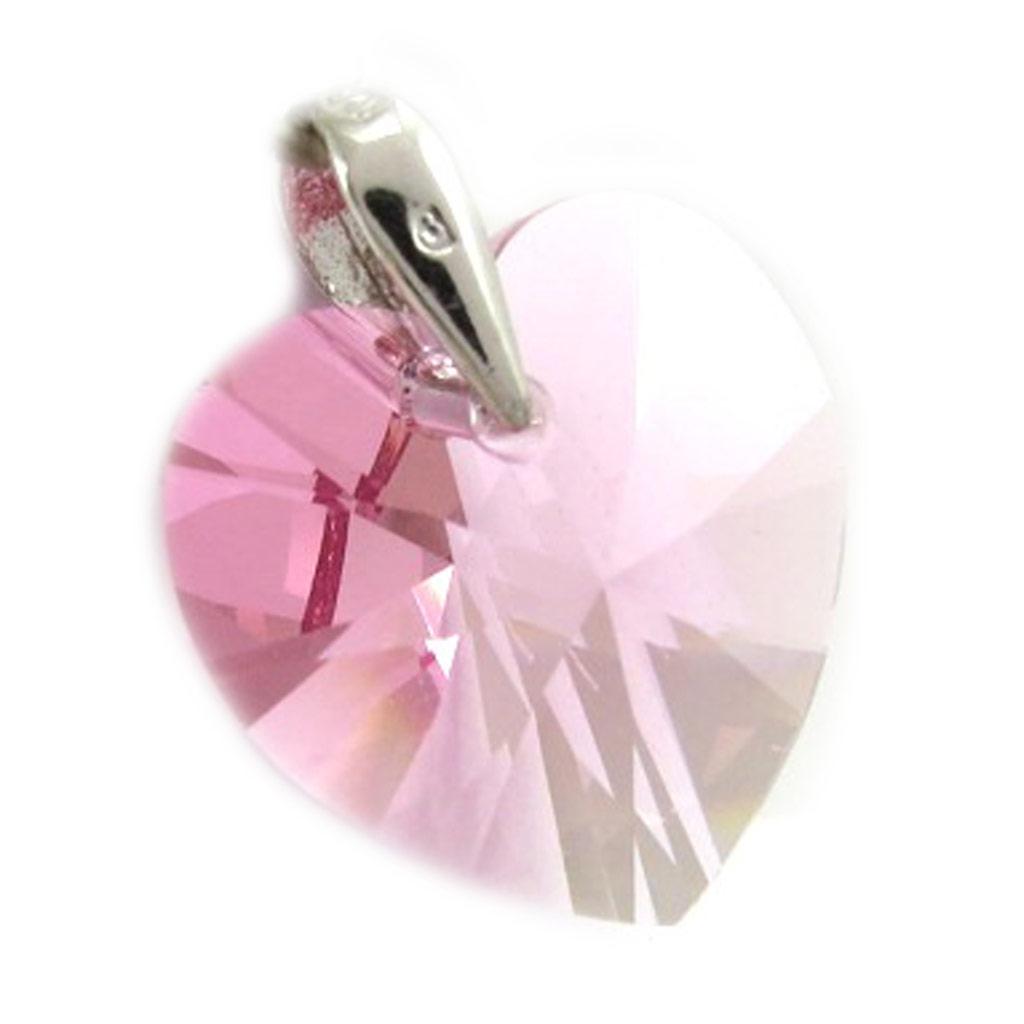 Pendentif Argent \'Love\' rose  - [K2755]