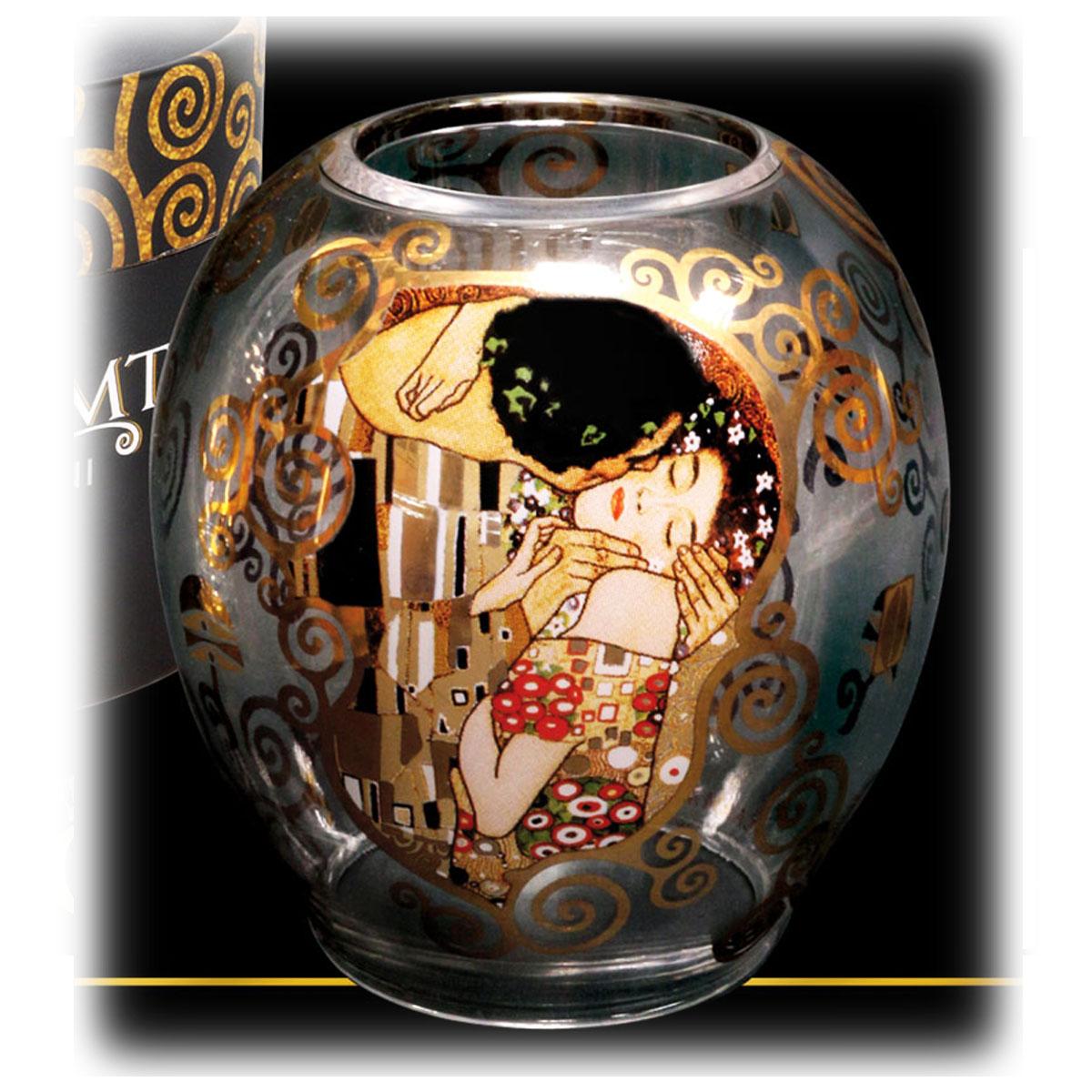 Bougeoir créateur \'Gustav Klimt\' (le Baiser) - 105x45 cm - [Q7210]