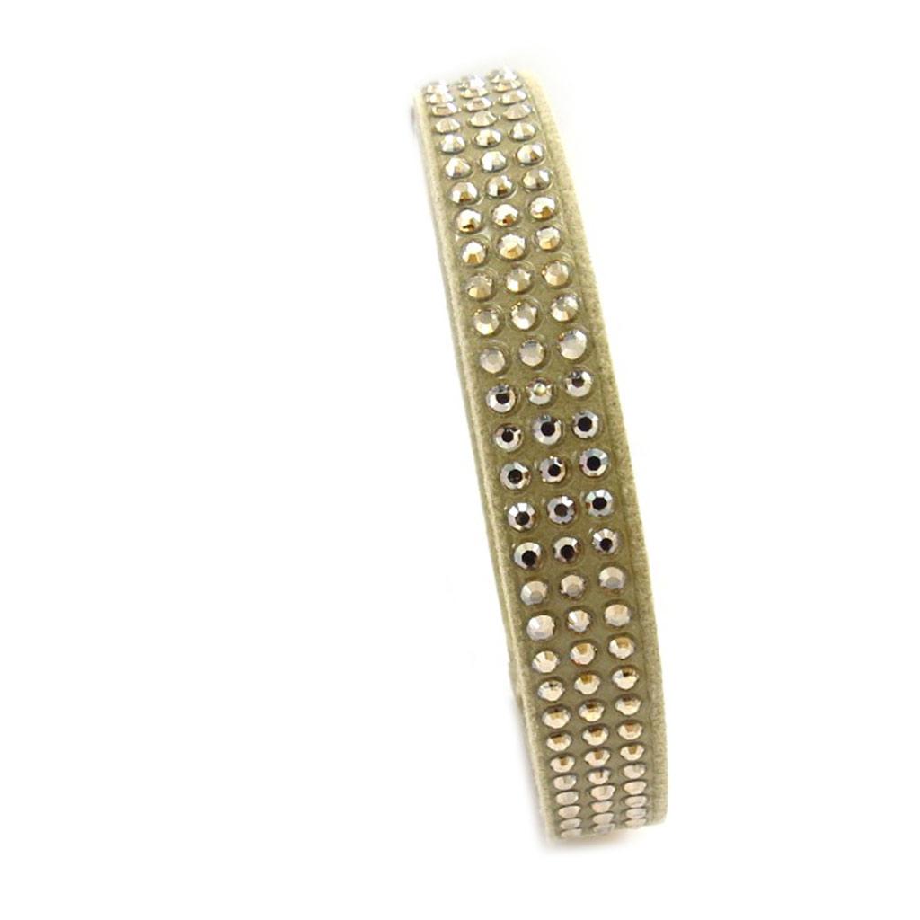 Bracelet créateur \'Déesse\' beige doré (cristal de Swarovski) 10 mm - [K2785]