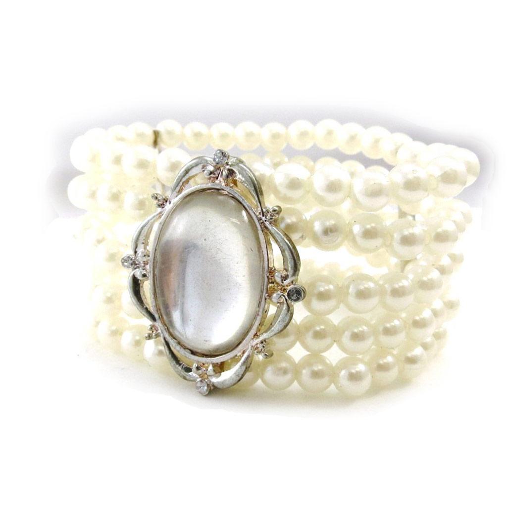 Bracelet \'Eva\' Blanc  - [E4345]