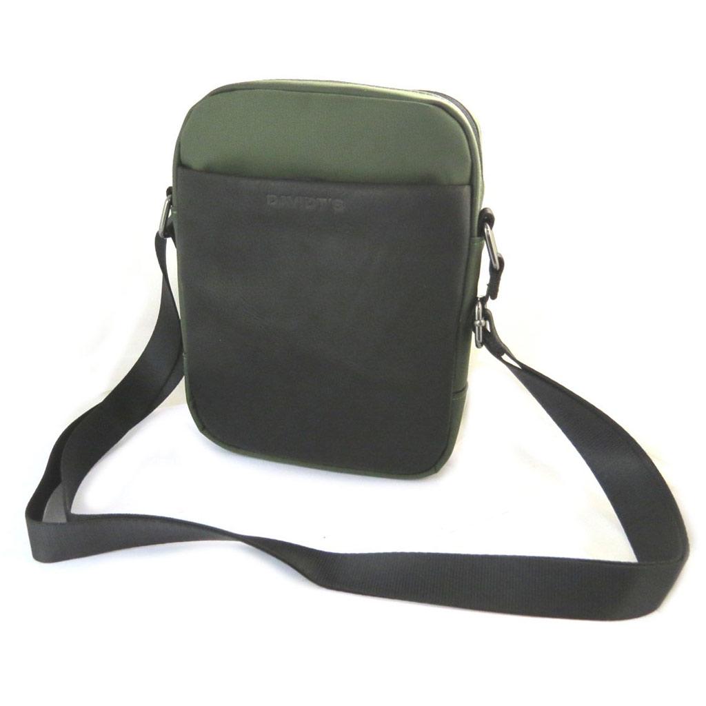 Sac bandoulière \'Indispensable\' noir vert (1 compartiment) - 22x16x55 cm - [N6575]