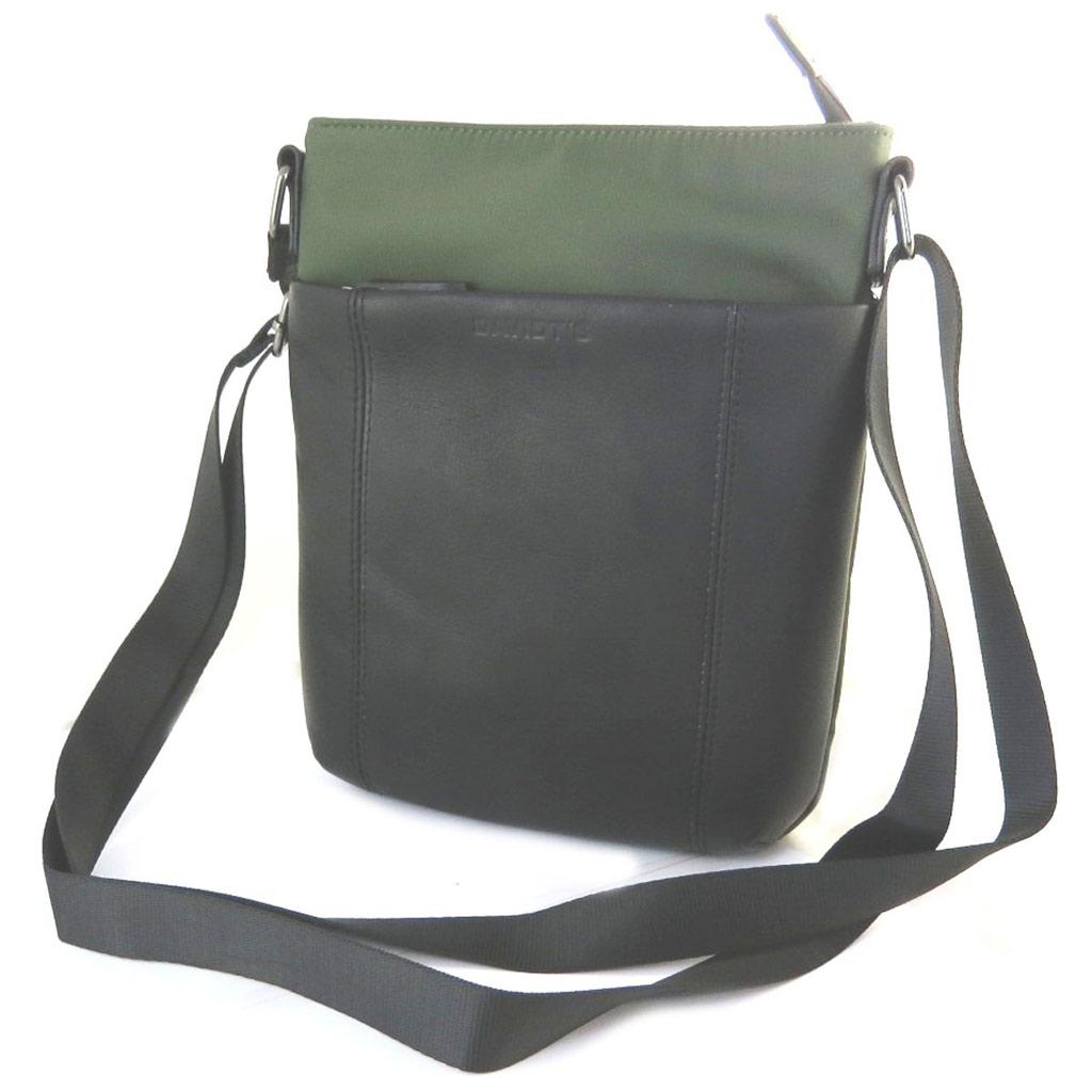 Sac bandoulière \'Indispensable\' noir vert (1 compartiment) - 24x21x55 cm - [N6577]
