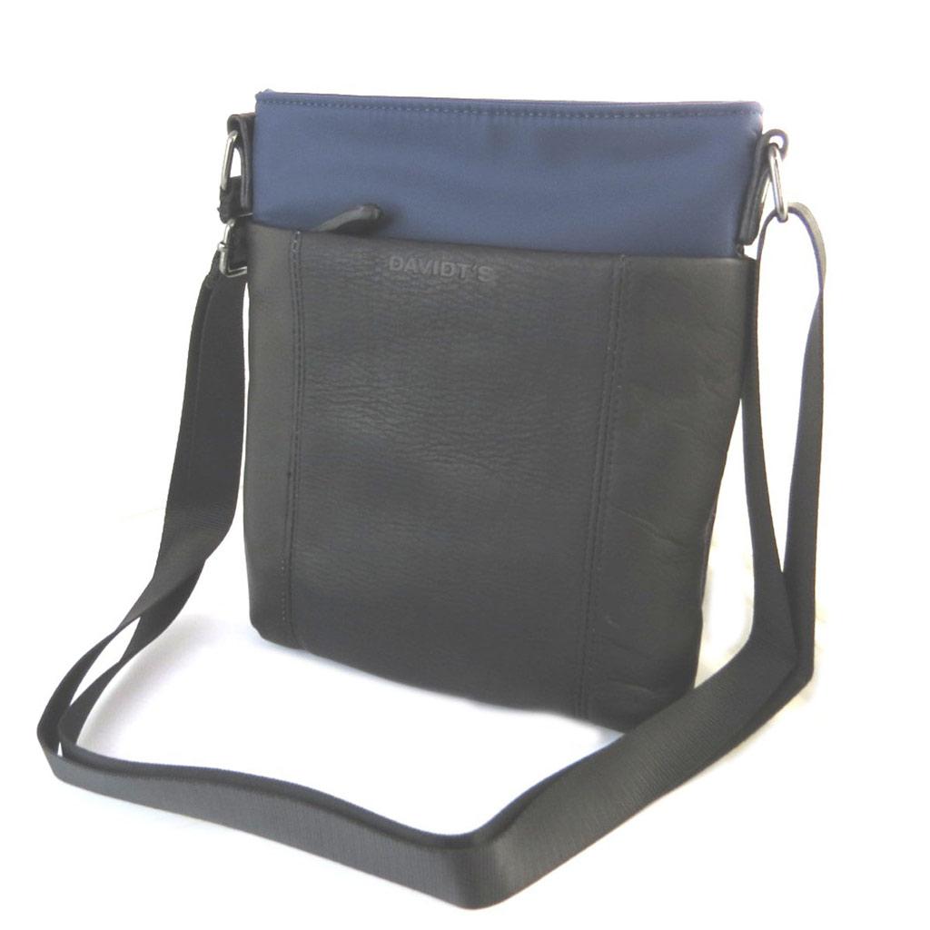 Sac bandoulière \'Indispensable\' noir bleu (1 compartiment) - 24x21x55 cm - [N6578]