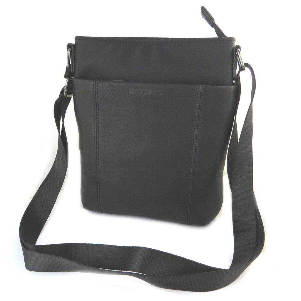 Sac bandoulière \'Indispensable\' noir (1 compartiment) - 24x21x55 cm - [N6579]