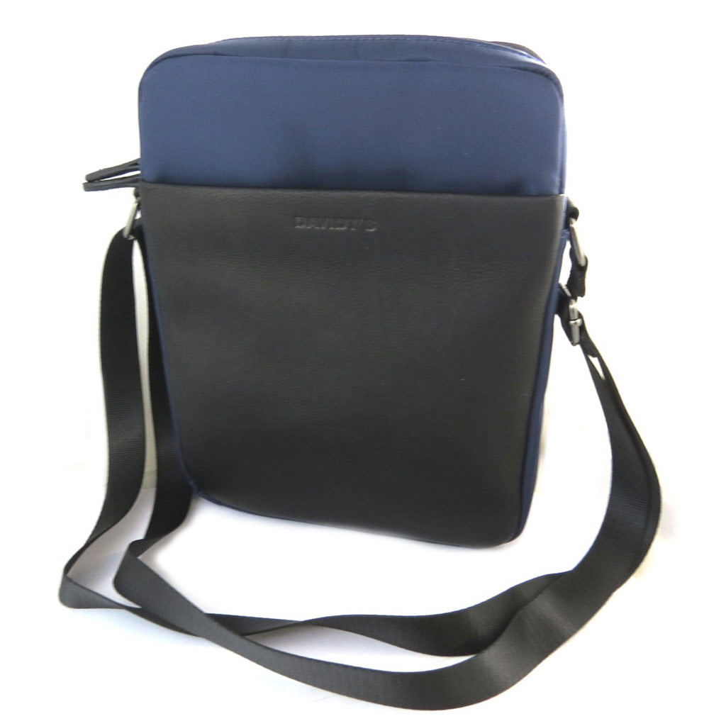 Sac bandoulière \'Indispensable\' noir bleu (2 compartiments) - 27x21x7 cm - [N6581]
