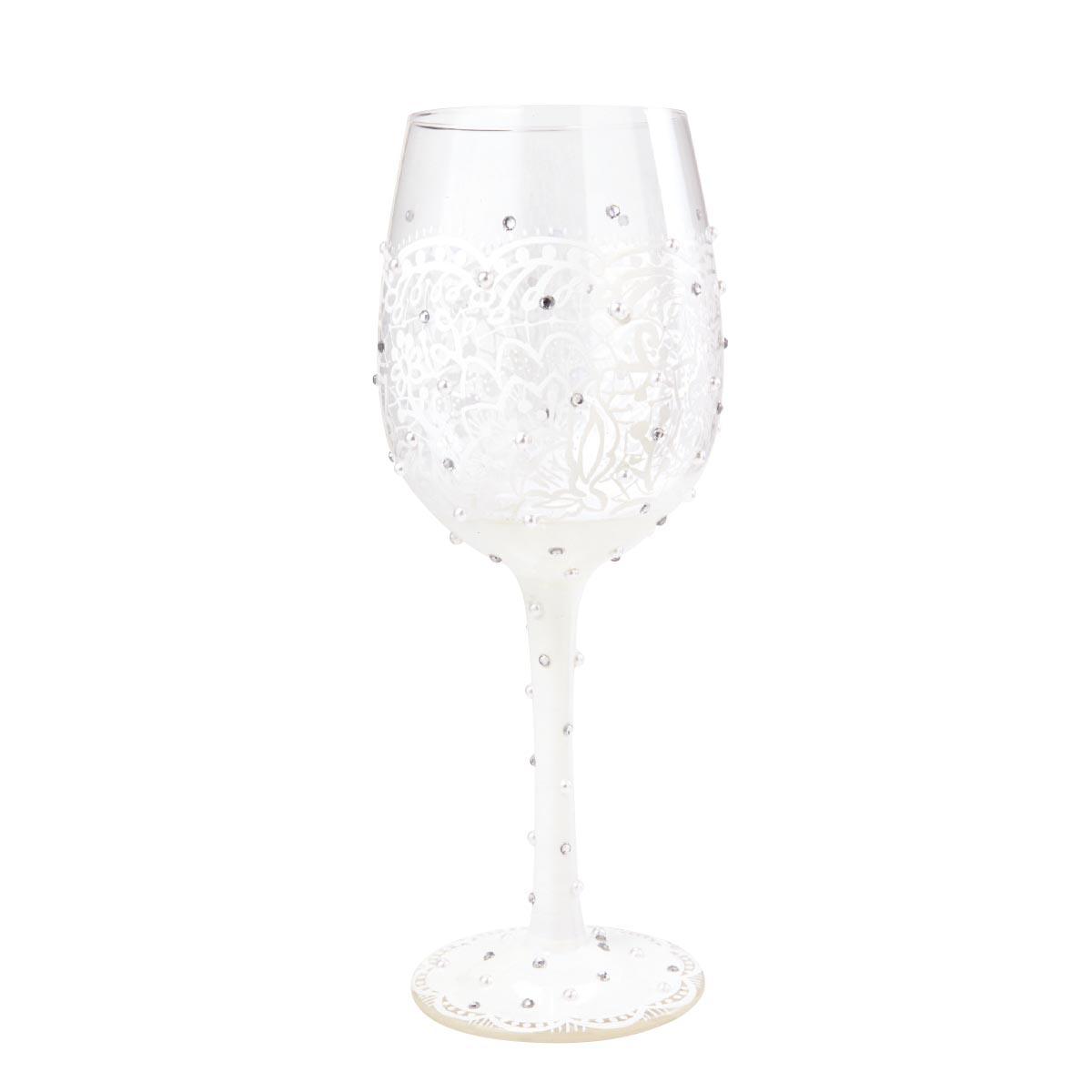 Verre à vin créateur \'Bride\' (la Mariée) ivoire - 215 cm - [N6624]