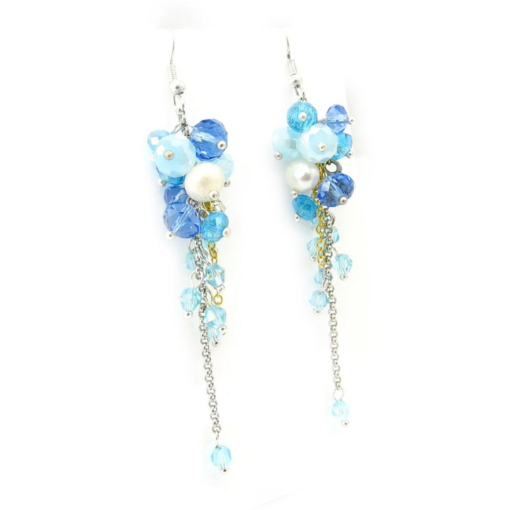 Boucles créateur \'Mineralia\' bleu - [K3253]