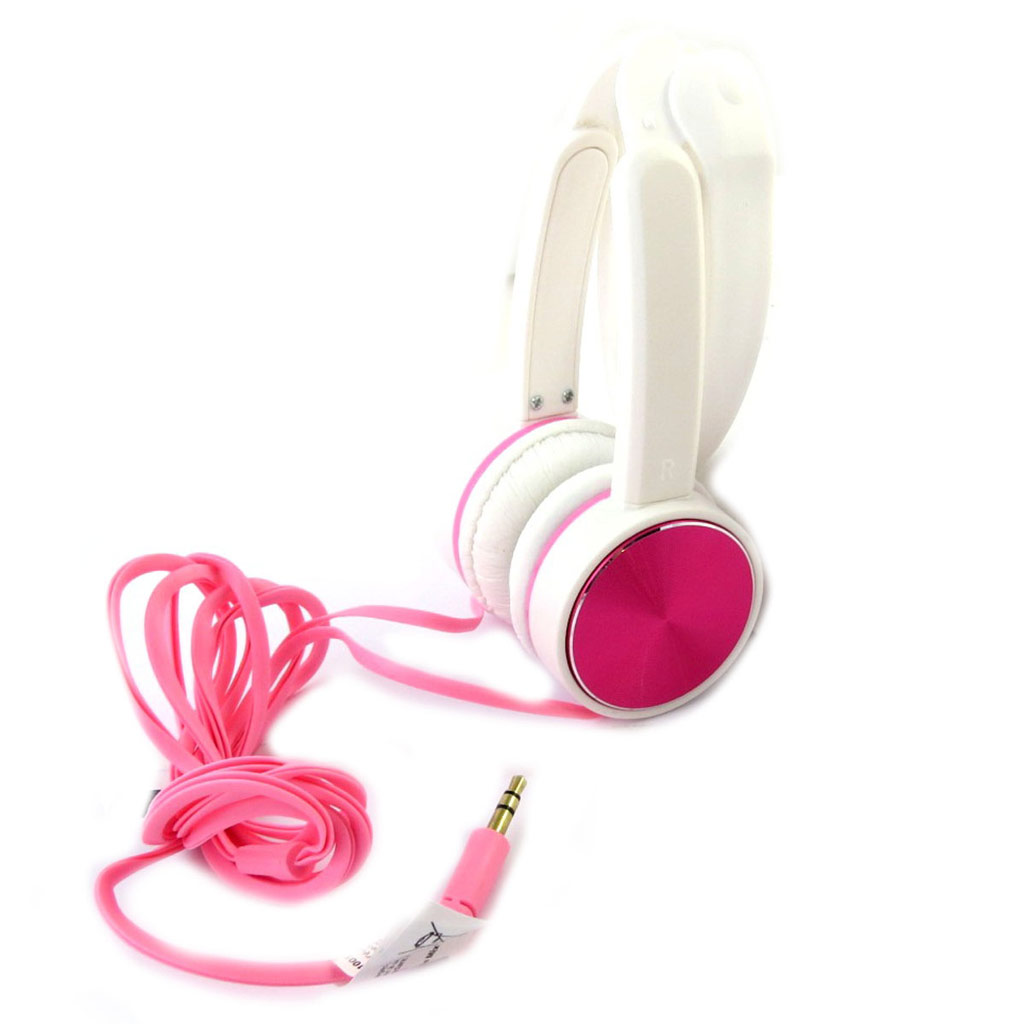 Casque audio compact \'Coloriage\' rose blanc (be mix) - [N6661]