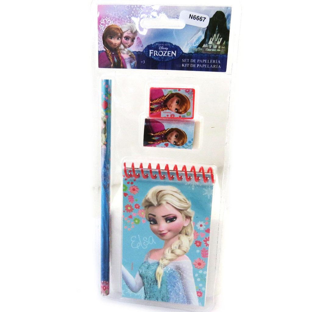 Set papeterie \'Frozen - Reine des Neiges\' bleu (4 pièces) - [N6667]