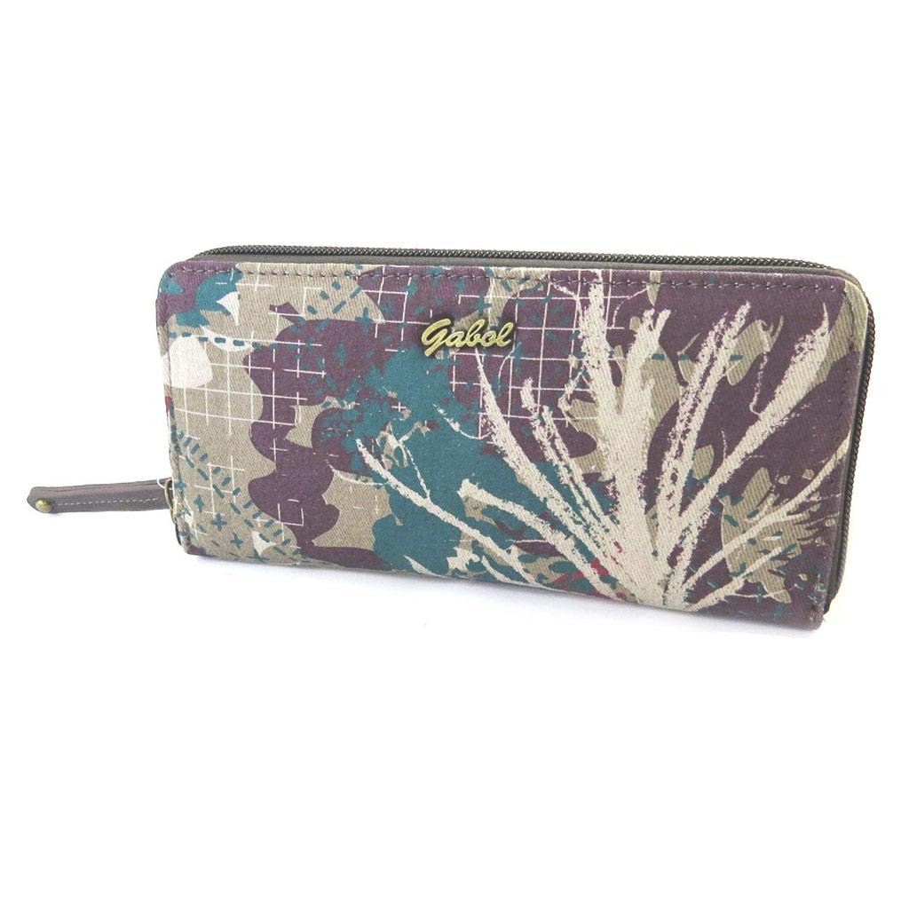 Portefeuille zippé \'Gabol\' taupe violet - 20x10x3 cm - [N6672]