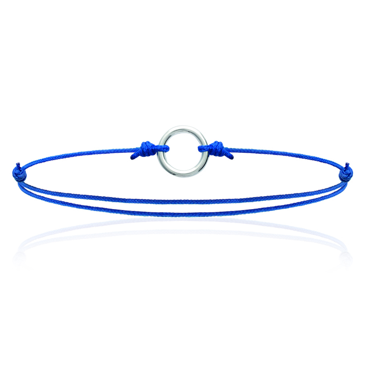 Bracelet Argent \'Chorégraphie\' bleu - 10 mm - [K3395]