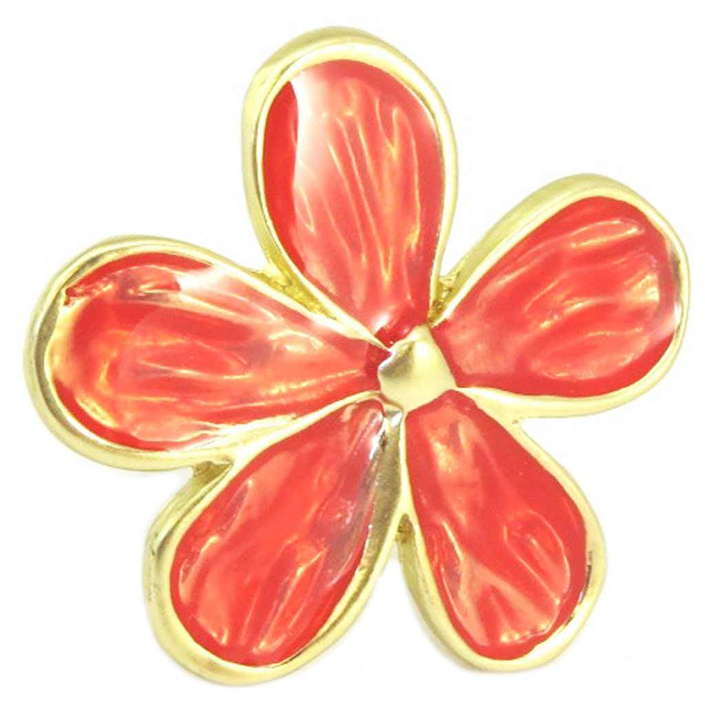 Bague Créateur \'Vahiné\' rouge doré - [P2477]