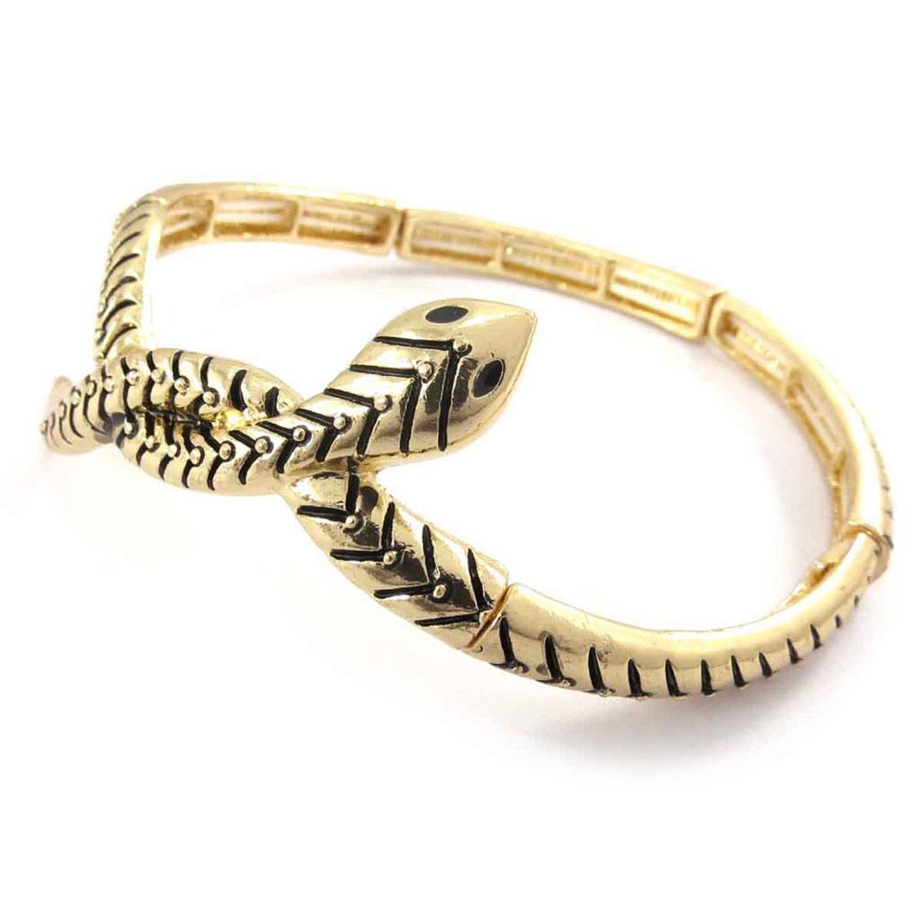 Bracelet bras créateur \'Tentation\' doré - [J8950]