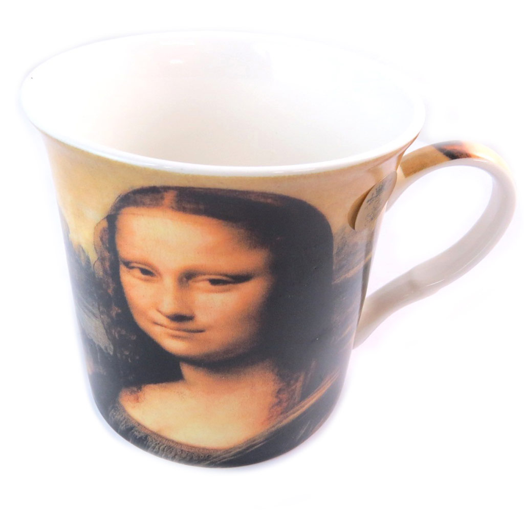 Mug porcelaine \'Leonard de Vinci - La Joconde\'  - [N8634]