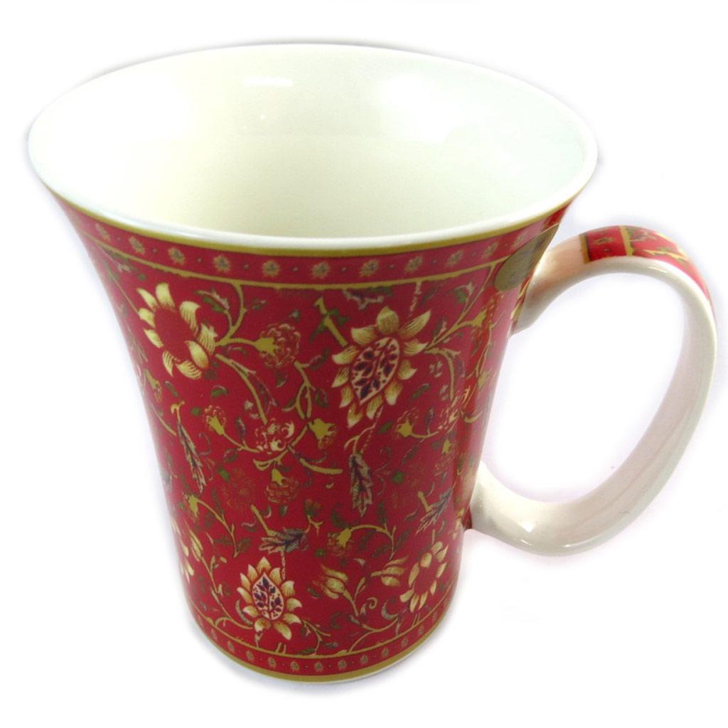 Mug porcelaine \'Mosaic\' rouge - [N8635]