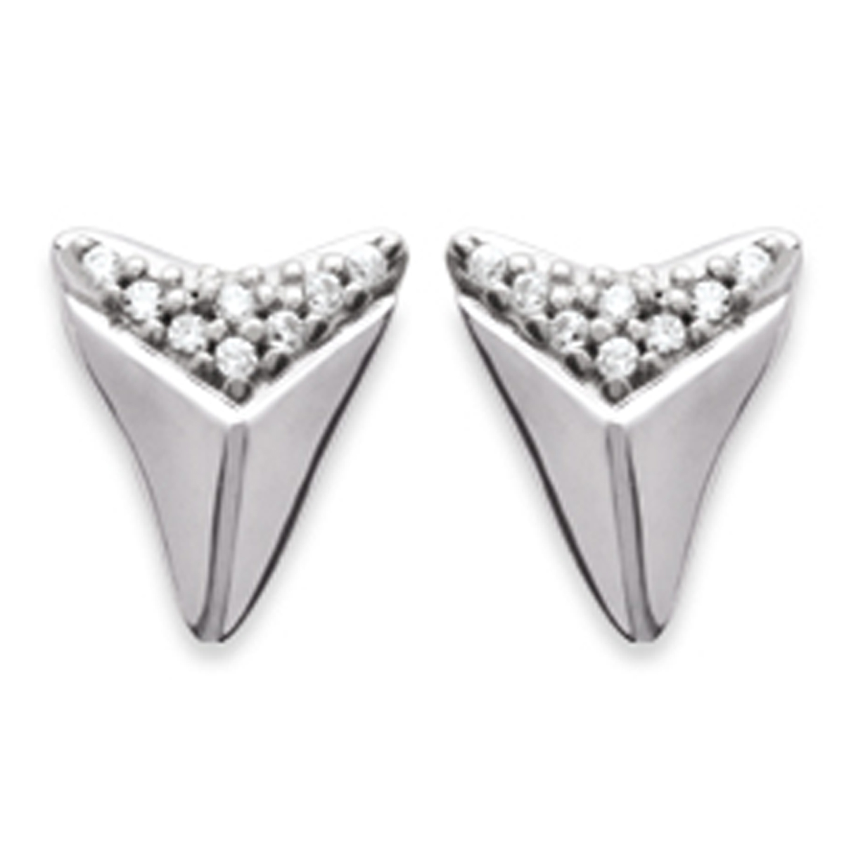 Boucles argent \'Boho\' argenté (rhodié) - 10x7 mm - [P9401]