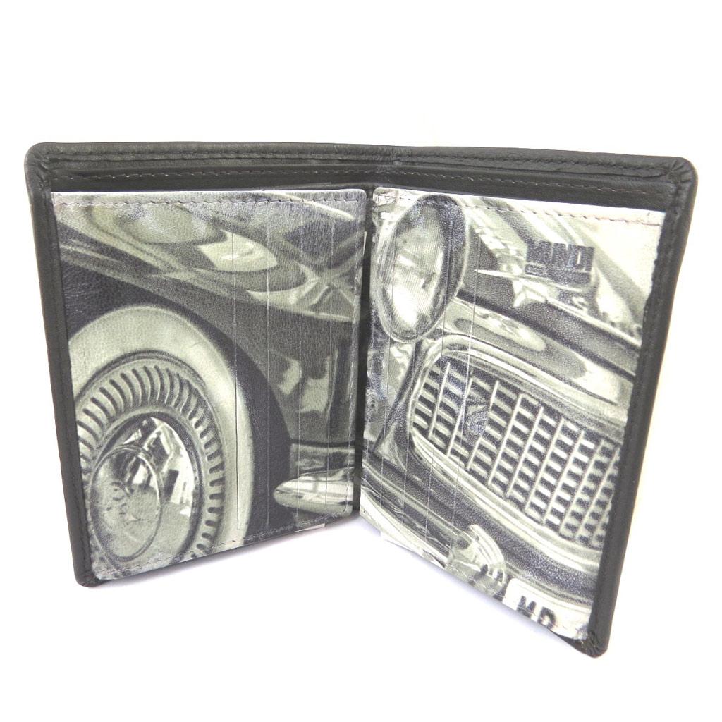 Portefeuille cuir \'Mundi\' marron vintage (22 cartes) - 115x9x2 cm - [N8735]